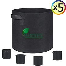 Grow Bags, Root Pouch, 5-Pack 10 Gallon Plantmate Flower Plant Hydroponi... - £19.61 GBP
