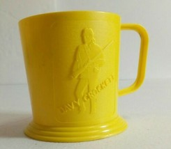 Plastic Pyro Davy Crockett Indian Fighter Childs Mug Cup Usa Only One On Ebay - $29.25
