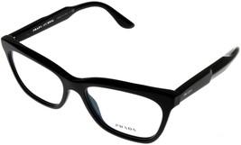 Prada Milano Prescription Eyewear Frame Men Black PR24SV 1AB101 Rectangular - $226.71