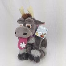 "Disney Store Exclusive Frozen Sven 14"" Holiday Plush Toy BU Snowflake Tongue  - $29.69"