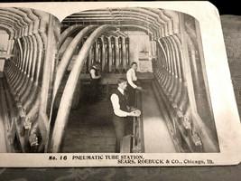 Vintage Stereoscope Card Sears & Roebuck #16 Pneumatic Tube Station - $4.89
