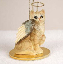 SHORTHAIR RED TABBY ANGEL CAT CHRISTMAS ORNAMENT HOLIDAY  Figurine - $14.99