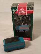 1992 HALLMARK KEEPSAKE ORNAMENT CHRISTMAS SKY LINE COLLECTION TRAIN COAL... - $20.84