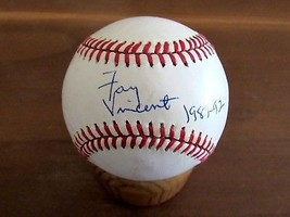 FAY VINCENT 1989-92 8TH COMMISSIONER MLB SIGNED AUTO VINTAGE BASEBALL JSA - $118.79