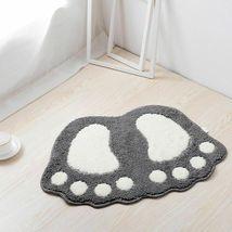 Bath Mats Water Absorption Mini Carpet Foot Print Non Slip Toilet Microfiber Pad image 5
