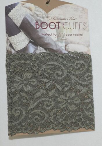 Amanda Blu 31503 Boot Cuffs Olive Green Lace 5 Inches Tall