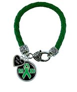 Holly Road Muscular Dystrophy Green Leather Bracelet Jewelry Choose Your... - $19.79