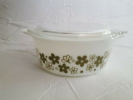 Vintage Pyrex Crazy Daisy #472 Spring Blossom Casserole 1 1/2 Pint & 470C Lid - $19.40