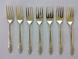 oneida COMMUNITY PLATE SILVERPLATE FLATWARE EVENING STAR 7pc dessert forks - $48.50