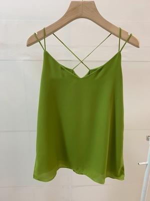 Olive green chiffon top
