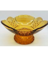 EAPG Antique Hartley Low Standard Base Footed COMPOTE in Rare Amber Glass - $60.00