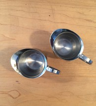 Set of 2 vintage Polar Ware stainless steel creamers/pitchers image 3