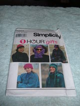 Simplicity 1 Hour Gifts Pattern #9224 Hats Headband Scarf Mittens Unisex... - $3.97