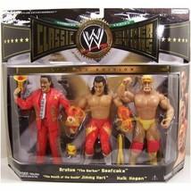 Brutus the Barber Beefcake Jimmy Hart & Hulk Hogan WWE Classic Figures NIB JAKKS - $81.67