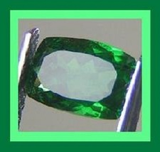 CHROME DIOPSIDE 0.40ct Rectangle 5.35x.3.53mm Faceted Natural Loose Gems... - $25.99