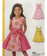 New Look Sewing Pattern 6202 Childs Girls Dress Sash Size 3-8 New - $13.10