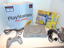 Sony PlayStation 1 PS1 Game Console Bundle With Box, Controllers, & Acce... - $29.02