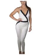 Sleeveless halter neck cream Jumpsuit - $15.75