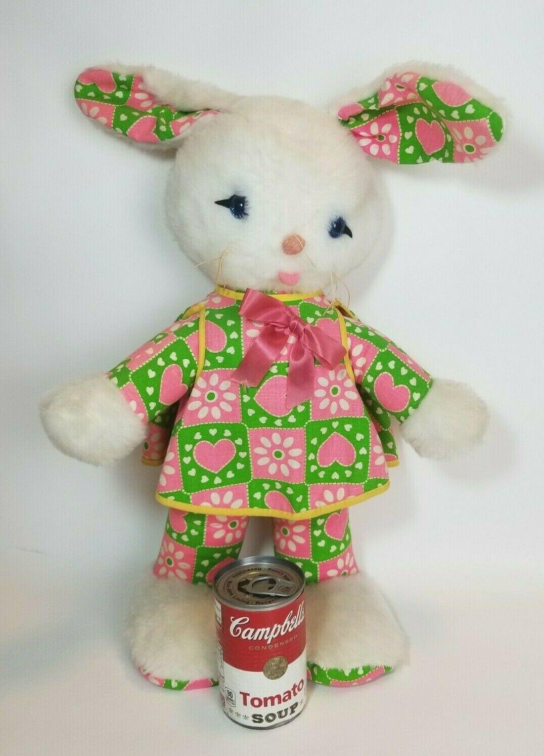 "Vintage Knickerbocker Plush Bunny Rabbit Animals of Distinction 24"" Flower Power - $89.05"