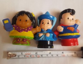 Fisher Price Little People Lot Of 3:  girl w lei & phone, superman & lad... - $11.57
