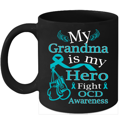 Primary image for OCD Awareness 11oz coffee mug Fight Teal Ribbon for my Grandma