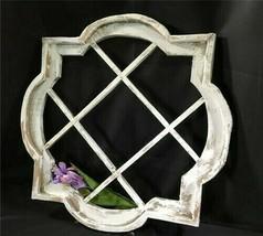 White Wine Rack Window Frame, Wooden Decorative Panel, Architectural Window - $144.00