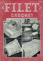 Filet Crochet Projects & Designs Book 193 Clark's & Coats 31 pages 1943 - $4.47