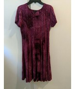 Sami & Jo Sequined Fit And Flare Style Dress Magenta Size Small - $24.70