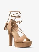 Michael Michael Kors Rosalie Suede Lace-Up Platform Sandal Mult Sz - $129.99