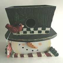 The Snow Friends Collection by St.Nicholas Square Wooden Snowman Centerp... - $19.75