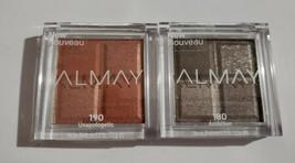 Lot 2 ALMAY Eyeshadow Quad #180 Ambition & 190 Unapologetic Squad - $9.74