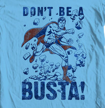 Superman Busta T-shirt Classic Justice League Super Friends DC comics tee SM1925 image 1