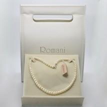 Collar de Oro Blanco 18KT y Plata 925 con Perlas 5.5 6mm Bonita Caja - $180.03