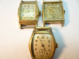 VINTAGE GRUEN 415 MOVEMENT AND ONE GOTHAM 7 JEWEL SQUARE WATCH FOR RESTO... - $120.94
