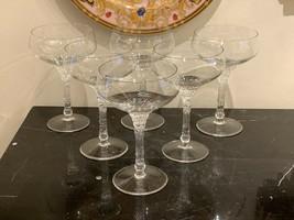 Rosenthal Germany Split Pattern Champagne Sherbet Glasses  Set of 6 - $149.00