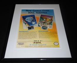 Air Fortress HAL 1989 NES Nintendo 11x14 Framed ORIGINAL Vintage Adverti... - $22.55