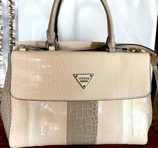 Guess Satchel Handbag Bay View Blush Multi, Ivory Beige NEW - $109.89