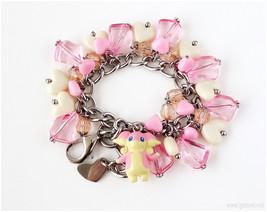 Pokemon Bracelet, Audino Charm Bracelet, Pokemon Jewelry, Kawaii Jewelry... - $43.00