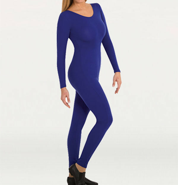 Primary image for Body Wrappers MT217 Adult Small (4-6) Royal Blue Full Body Long Sleeve Unitard