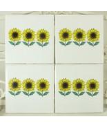 Sunflower Flowers Decorative Ceramic Tiles 6pc Lot - $34.55