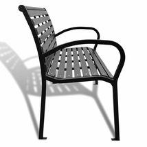 vidaXL Garden Bench Steel Porch Patio Park Path Chair Outdoor Deck Seating image 4