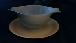 HOMER LAUGHLIN SKYTONE, blue Gravy Boat bowl & plate China & Dinnerware ... - $8.91