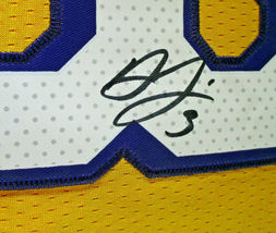 ANTHONY DAVIS / AUTOGRAPHED LOS ANGELES LAKERS PRO STYLE BASKETBALL JERSEY / COA image 5