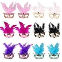 12pcs Set Mini Masqurade Masks,Small Mardi Gras Mask Halloween Novelty G... - £14.18 GBP