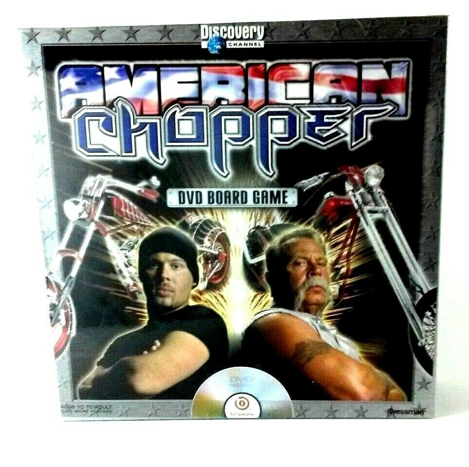 American Chopper DVD Board Game Age 10 up 2+ Players Factory Sealed Motorcycle - $11.99