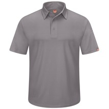 Red Kap Gray Men's Polo Medium Uniform SS New - $29.07