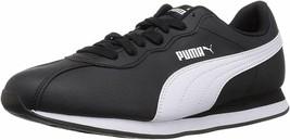 Puma Mens Turin Black White Sneaker Retro Runner Shoes 37165501 8 9 10.5... - $64.29