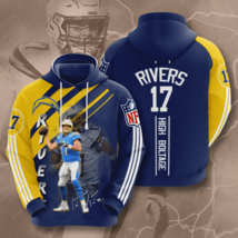 NFL-Los-Angeles-Chargers Rivers High Boltage 3D Hoodie Size S-5XL Unisex, Gifts - $35.31+