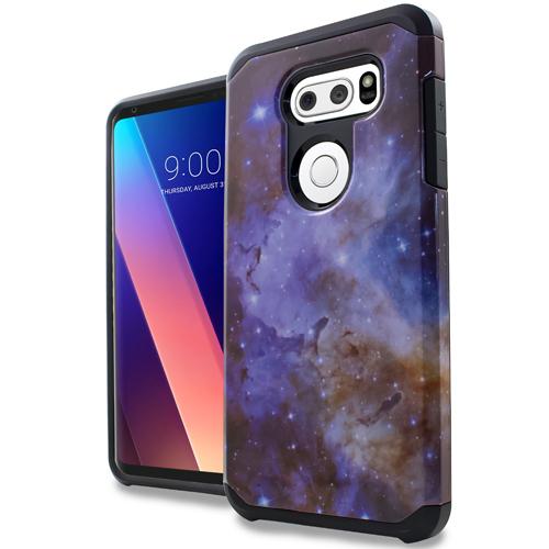 LG V30 Stardust Marble Design Slim Hybrid Case Cover