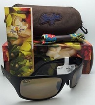 MAUI JIM Polarized Sunglasses HELEAKALA MJ H 419-2M BLACK Frames w/Bronze Lenses